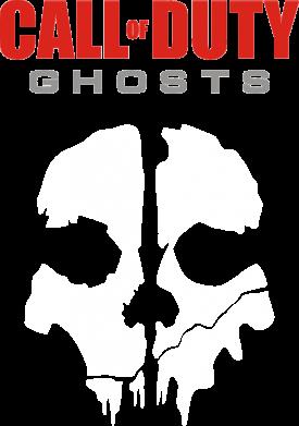 Принт Женская футболка с V-образным вырезом Call of Duty Ghosts - FatLine