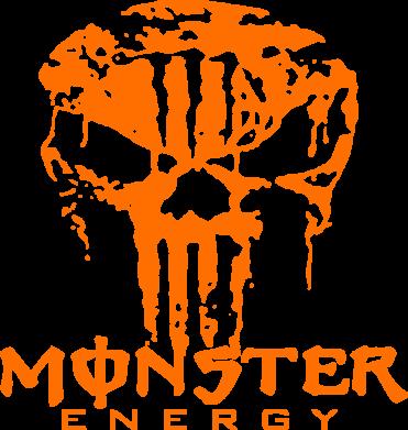 Принт Коврик для мыши Monster Energy Череп - FatLine