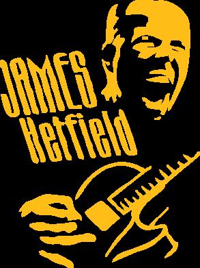 Принт Женская майка James Hetfield - FatLine