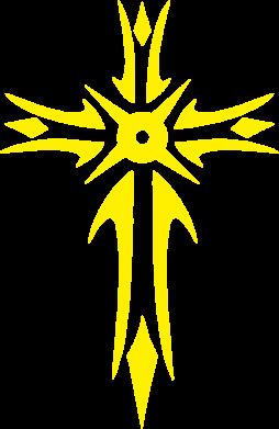Принт Мужская майка Крест 2 - FatLine