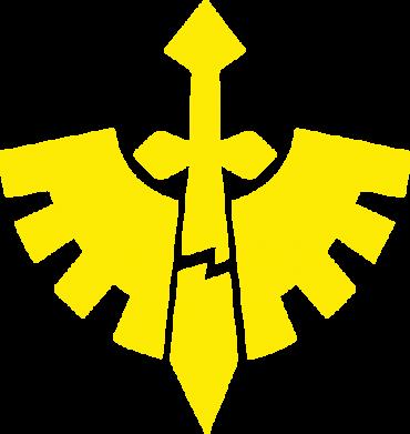 Принт Женская футболка с V-образным вырезом Warhammer 40k Dark Angels - FatLine