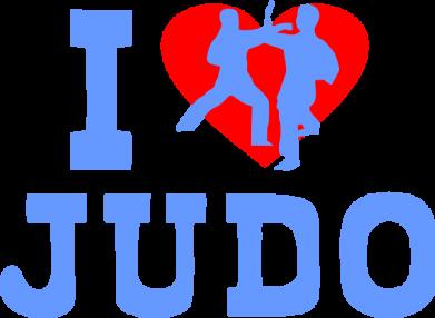 Принт Мужская майка I love Judo - FatLine