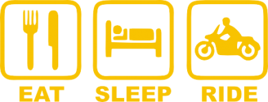 Принт Футболка Eat, sleep, ride - FatLine
