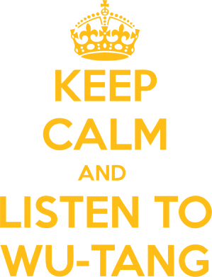 ����� �������� KEEP CALM and LISTEN to WU-TANG - FatLine