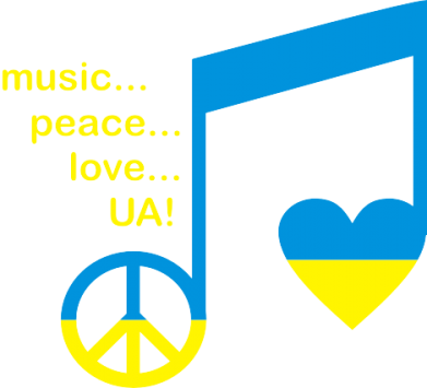 Принт Футболка Music, peace, love UA - FatLine