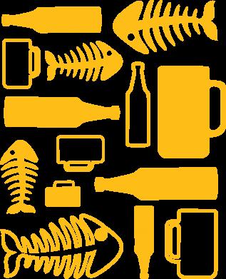 Принт Реглан Пиво и рыбка - FatLine