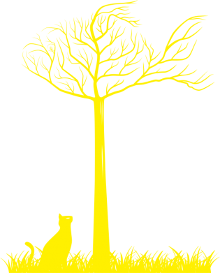 Принт Женская футболка Кот прыгает на дерево - FatLine