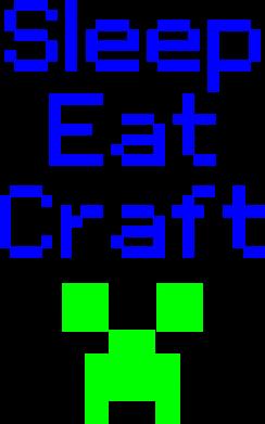 Принт Подушка Sleep,eat, craft - FatLine