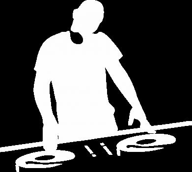 Принт Мужская толстовка на молнии Dj за работой - FatLine