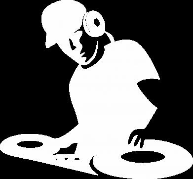 Принт Мужская толстовка на молнии Dj Logo - FatLine