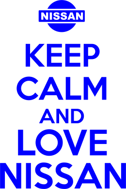 ����� ������� ��������  � V-�������� ������� Keep calm and love Nissan - FatLine