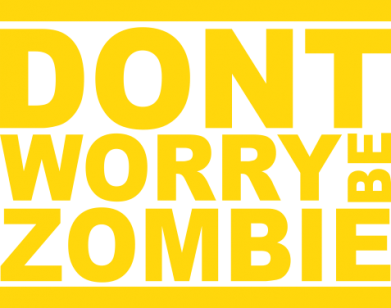 Принт Футболка Поло Don't worry,be zombi - FatLine