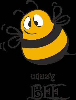 Принт Футболка Поло Crazy Bee - FatLine