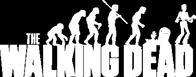 Принт Мужская футболка  с V-образным вырезом The Walking Dead Evolution - FatLine