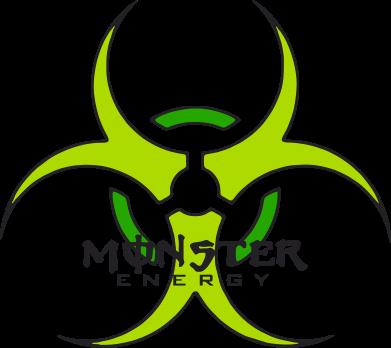 Принт Коврик для мыши Monster Energy Biohazard - FatLine