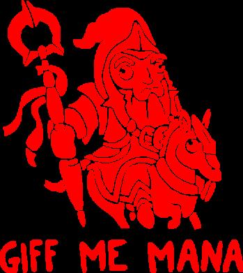Принт Женская майка Giff Me Mana - FatLine