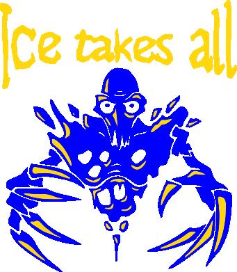 Принт Женская футболка Ice takes all Dota - FatLine