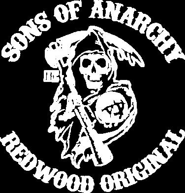 Принт Женская футболка с V-образным вырезом Sons of Anarchy - FatLine