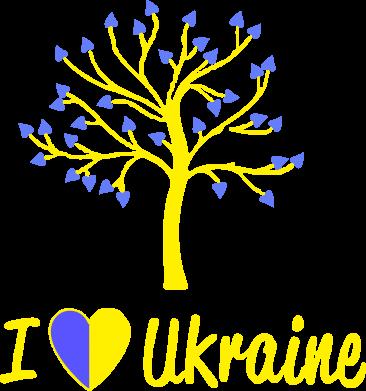 Принт Футболка Поло I love Ukraine дерево - FatLine