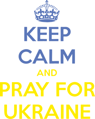 Принт Футболка KEEP CALM and PRAY FOR UKRAINE - FatLine