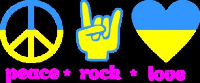 Принт Женская майка Peace, Rock, Love - FatLine