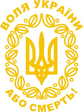 Принт Реглан Герб України з візерунком - FatLine