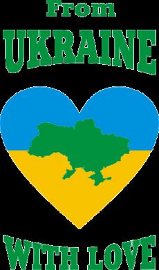 Принт Футболка Поло З України з любовью - FatLine