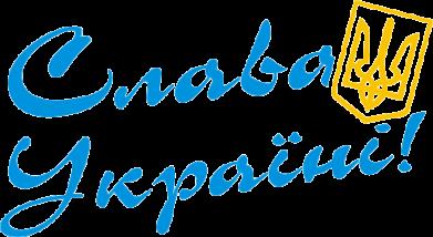 Принт Женская футболка с V-образным вырезом Слава Україні з гербом - FatLine