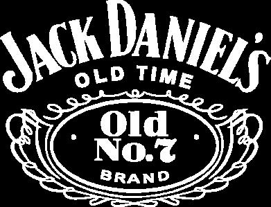 Принт Мужская футболка  с V-образным вырезом Jack Daniel's Old Time - FatLine
