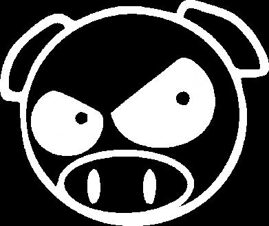 Принт Мужская толстовка на молнии Злая свинка - FatLine