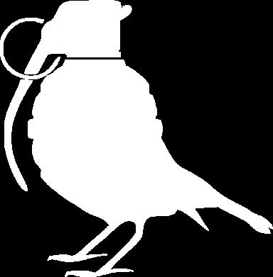 Принт Майка-тельняшка Птичка с гранатой - FatLine