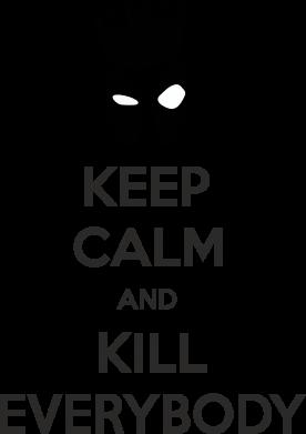 Принт Мужская толстовка KEEP CALM and KILL EVERYBODY - FatLine