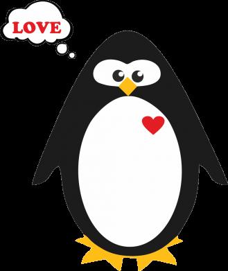 Принт Женская футболка с V-образным вырезом Пингвин мальчик - FatLine