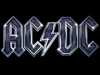 Принт Мужская футболка  с V-образным вырезом AC/DC Logo - FatLine