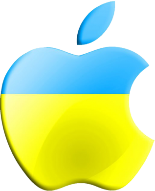 Принт Футболка Поло Apple Ukraine - FatLine