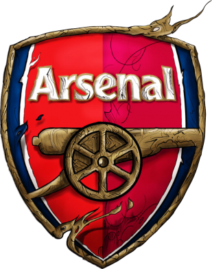 Принт Фартук Arsenal Art Logo - FatLine