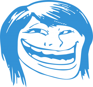 ����� ������� �������� � V-�������� ������� Trollface girl - FatLine