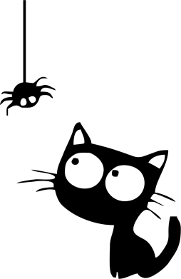Принт Жіноча футболка поло Котик і павук - FatLine