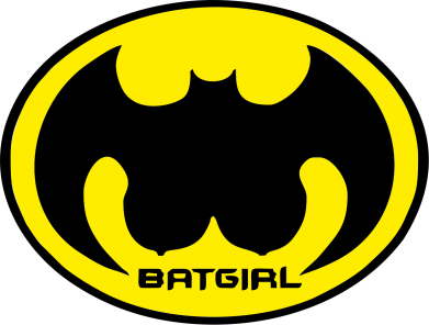 Принт Наклейка Bat Girl - FatLine