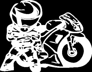 Принт Футболка Поло Мотоциклист - FatLine