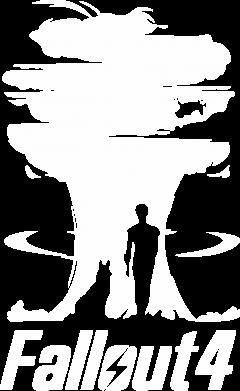Принт Женская футболка с V-образным вырезом Fallout 4 Art - FatLine