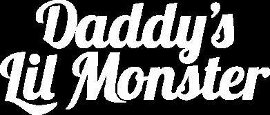 Принт Мужская футболка  с V-образным вырезом Daddy's Lil Monster - FatLine
