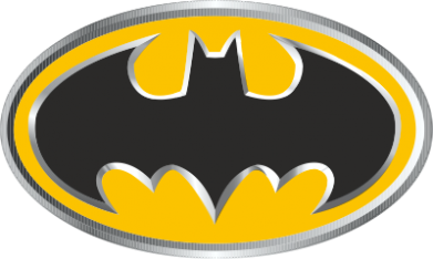 ����� �������� ���� Batman Gold Logo - FatLine