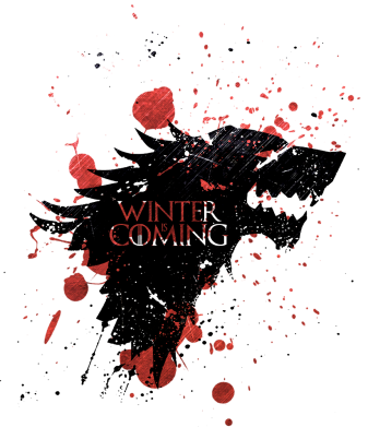 Принт Подушка Winter is coming Blood - FatLine