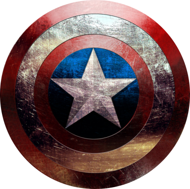 Принт Мужская толстовка на молнии Потрескавшийся щит Капитана Америка - FatLine