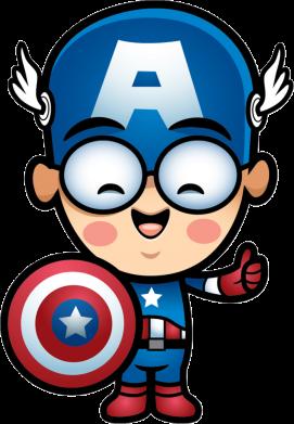 Принт Тельняшка с длинным рукавом Маленький Капитан Америка - FatLine