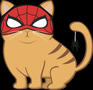 Принт Детская футболка Кот на тыкве - FatLine