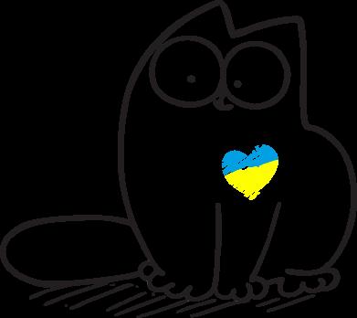 Принт Фартук Типовий український кіт - FatLine