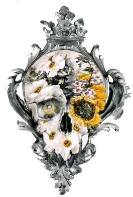����� �������� ���� Flower Skull 3 - FatLine