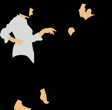 Принт Футболка с длинным рукавом Танец Криминальное Чтиво - FatLine